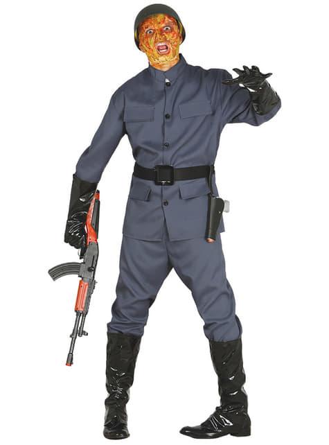 Disfraz de soldado zombie para hombre