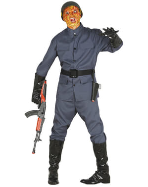 Costume da soldato zombie per uomo