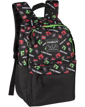 Czarny plecak Minecraft Creeper