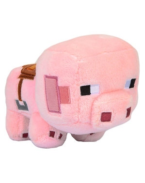 Peluche Minecraft cerdo explorador 11cm