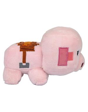 Peluche Minecraft cochon explorateur 11cm