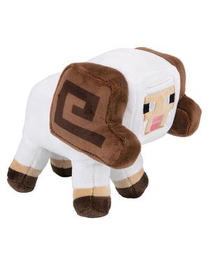 Peluche Minecraft ovelha exploradora com cornos 18cm