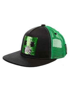Gorra Minecraft Creeper con lentejuelas