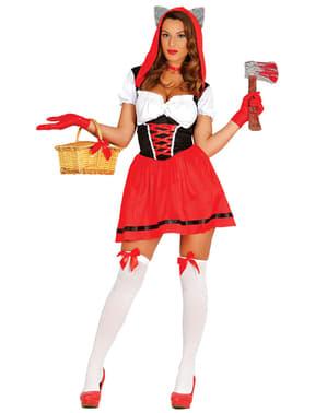 Rødhætte kostume til kvinder