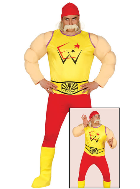 Disfraz de luchador Hogan para hombre