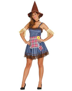 Disfraz de espantapájaros alegre para mujer