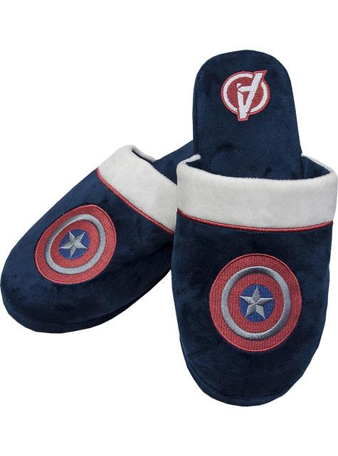 Zapatillas de estar por casa de Capitán América - Marvel