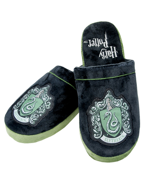 Slytherin Slippers for Adults - Harry Potter
