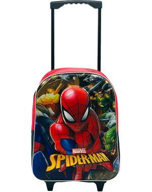 Batoh 3D Spiderman s kolečky