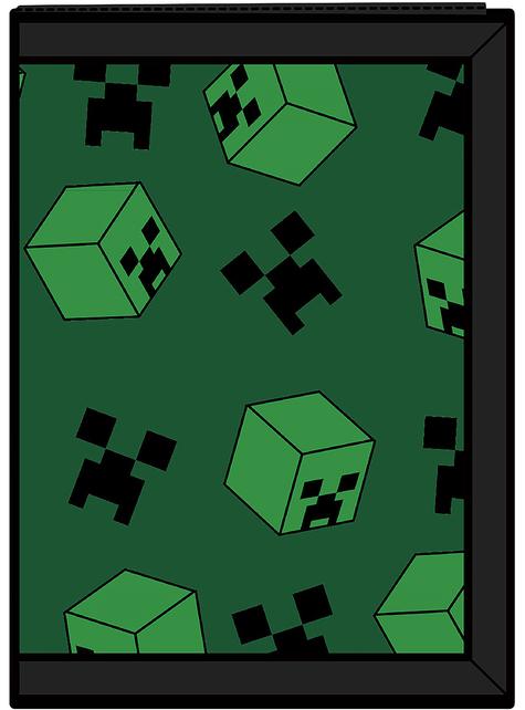 Cartera Minecraft Creeper verde