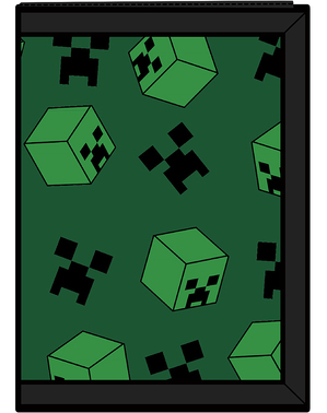 Carteira Creeper Minecraft verde