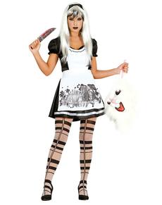 Dunkles Alice Kostüm für Damen