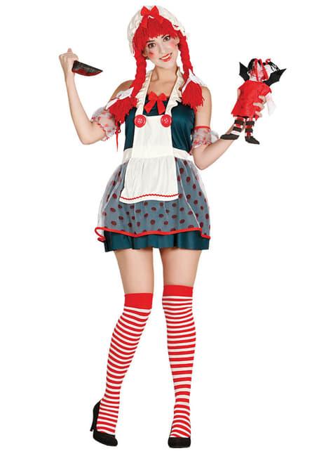 Woman's Disturbing Doll Costume