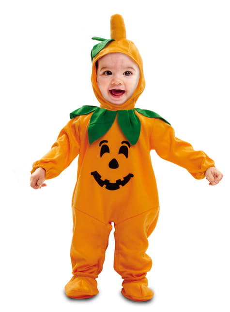 Lief pompoen kostuum voor baby