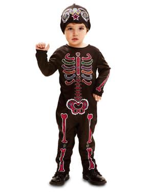 Skelet dag van de doden kostuum voor baby