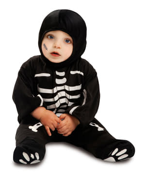 Fato de esqueleto para bebé