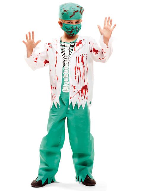 Disfraz de cirujano esqueleto para niño