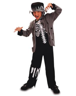 Fato de esqueleto Franky para menino