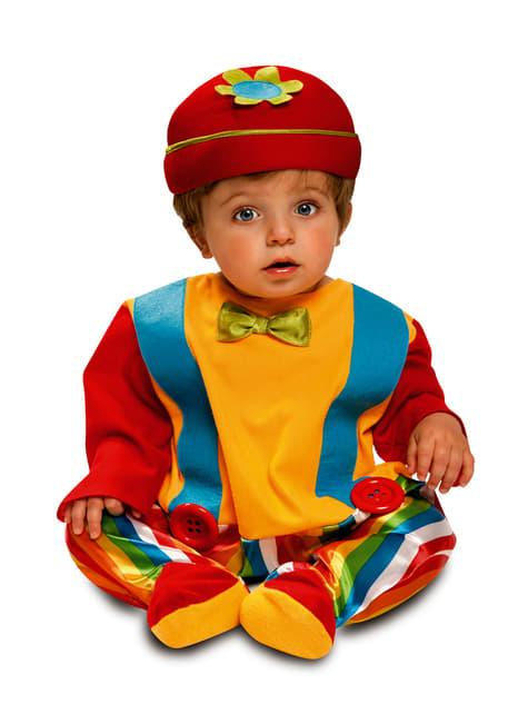 Fato de palhacinho engraçado para bebé