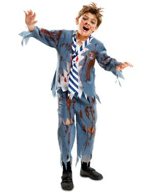 Zombie Skoleguttkostyme til Gutter