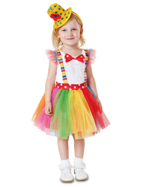 Costum de clovn tutu pentru fată