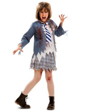 Zombie Schulmädchen Kostüm für Mädchen