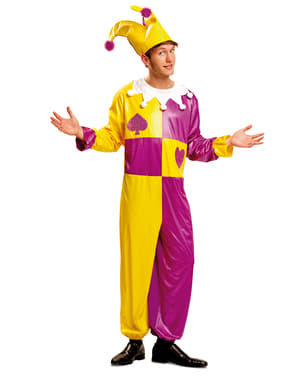 Costume giullare di corte per uomo