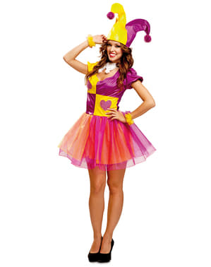 Costum de bufon simpatic pentru femeie