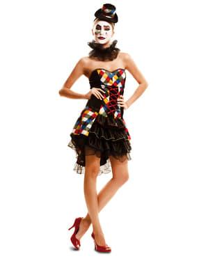 Sexy Liten Klovn Kostyme Dame