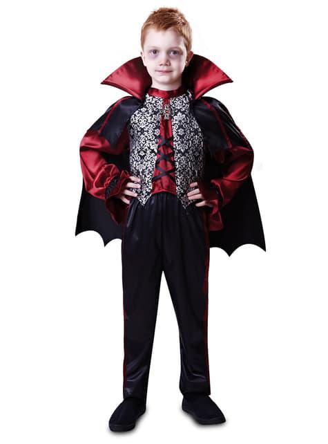 Fato de conde vampiro para menino