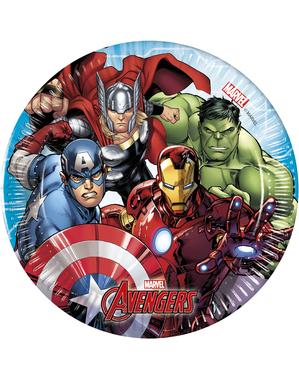 8 Avengers Tallerkener (20cm) - Mighty Avengers
