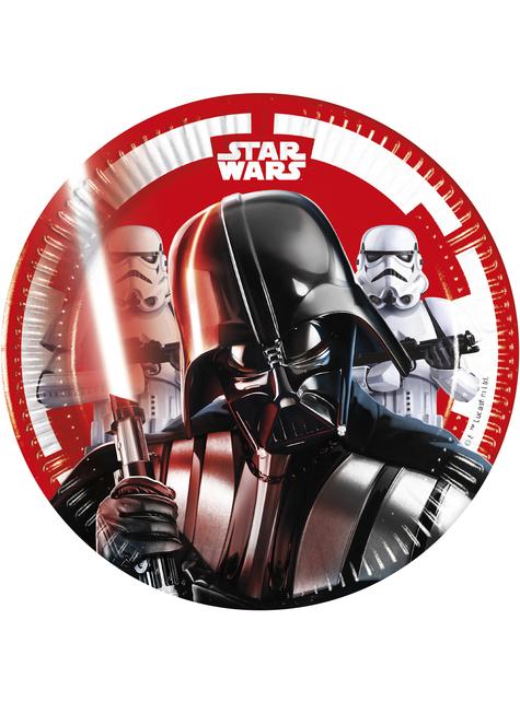 8 platos de Star Wars (20cm) - Final Battle