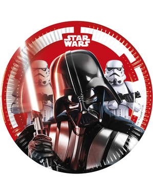8 Star Wars Plates (20cm) - Final Battle