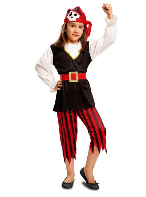 Kostium piratka czaszka dla dziewczynki