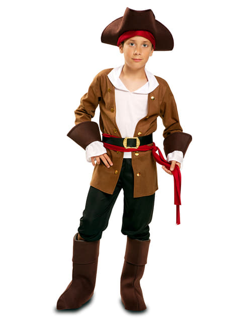 Fato de pirata aventureiro para menino
