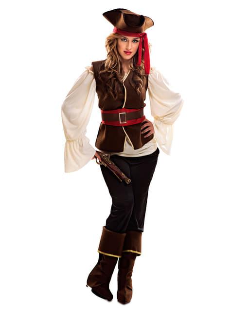 Avontuurlijke zeerover piraat kostuum voor vrouw