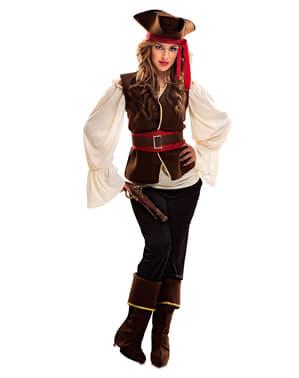 Fato de pirata corsária aventureira para mulher