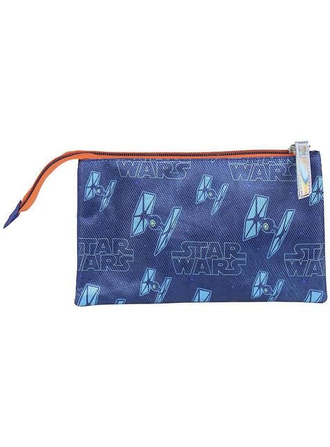 Estuche de Darth Vader con tres compartimentos - Star Wars