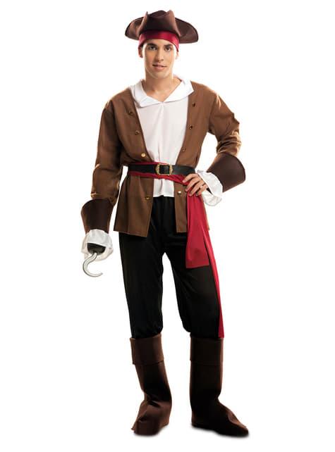 Disfraz de pirata bucanero aventurero para hombre