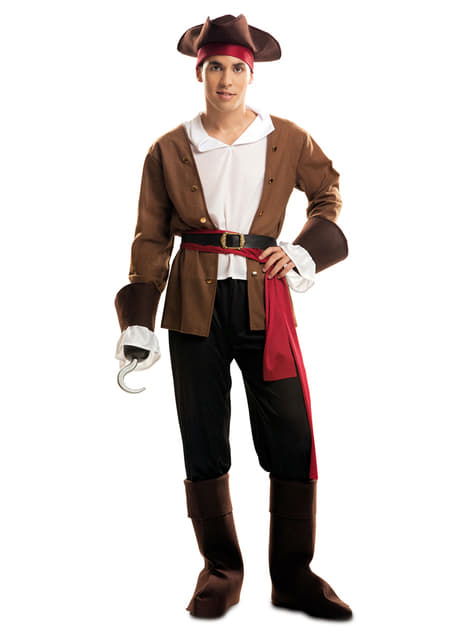 Man's Adventurous Buccaneer Pirate Costume