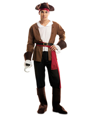 Costume da pirata bucaniere avventuriero per uomo