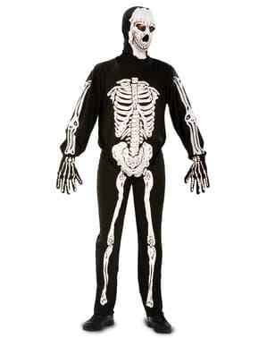 Чоловічий жахливий костюм скелета