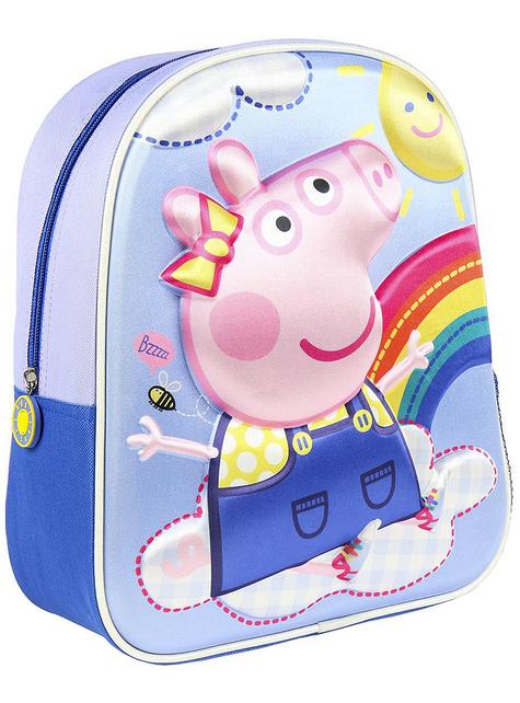 Mochila infantil 3D Peppa Pig azul