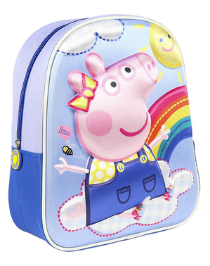 Blue Peppa Pig 3D Backpack for Kids