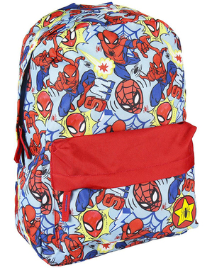 Spiderman Embossed Backpack for Kids