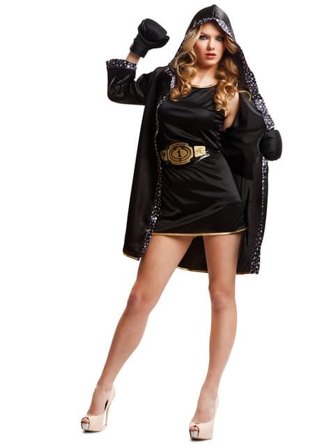Woman's Black Boxer Costume
