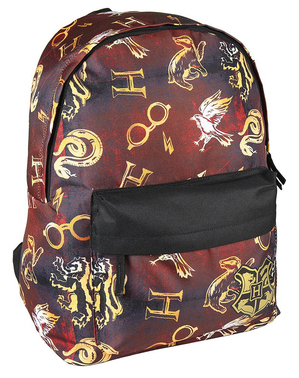 Mochila escolar Harry Potter estampada