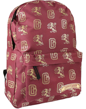 Mochila escolar de Gryffindor estampada - Harry Potter