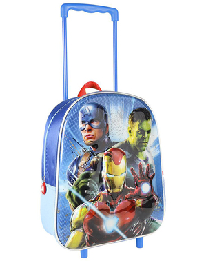 The Avengers 3D Metallic Trolley Backpack