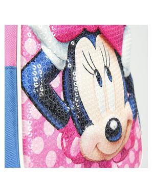 Mochila con ruedas 3D de Minnie mouse con lentejuelas - Disney